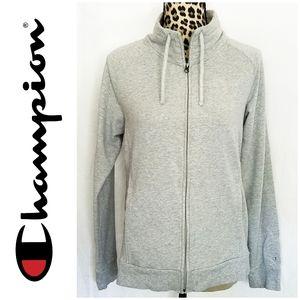 🎀 3/$25 Champion Heather Gray Zip Up Sweatshirt
